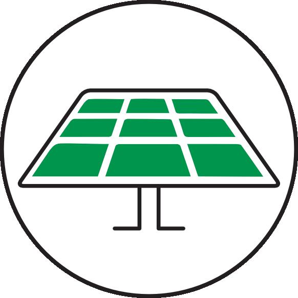 ECOCAMPING Icon - Nachhaltige Energieerzeugung